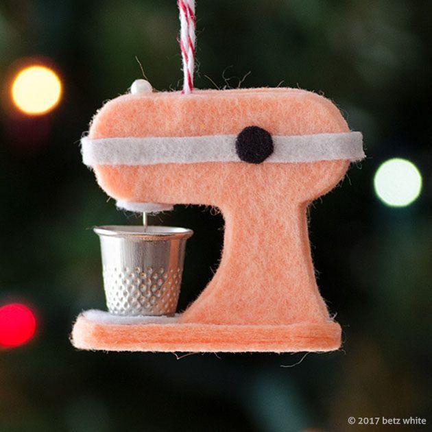 2017 Holiday Ornament Stitch Along Club Ornament 2 Betz White Felt Christmas Ornaments Felt Christmas Felt Ornaments