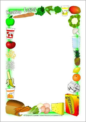 Healthy eating A4 page borders (SB2992) - SparkleBox and ...