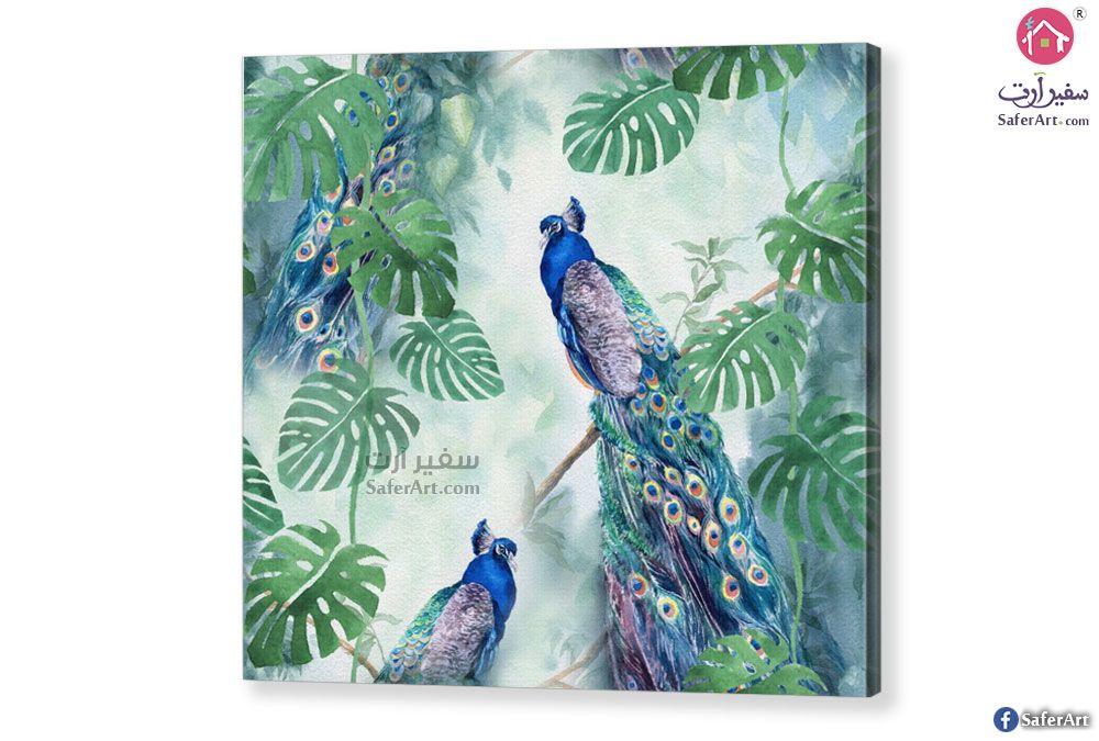 تابلوه طاووس ملون سفير ارت للديكور Peacock Art Art Painting