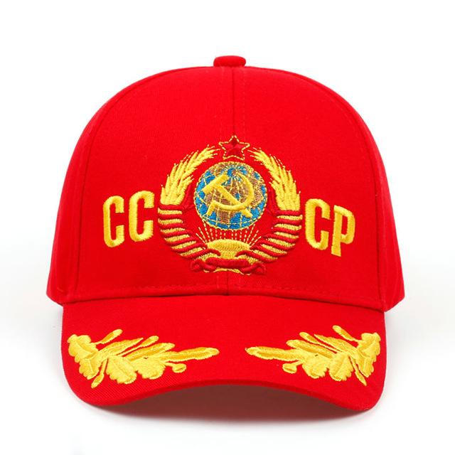 Cccp Ussr Russian Style Baseball Cap Unisex Snapback Cap With 3d Embroidery Baseball Cap Emblem Embroidery Baseball Hats