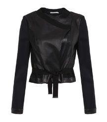 Schumacher Crop Leather Jacket