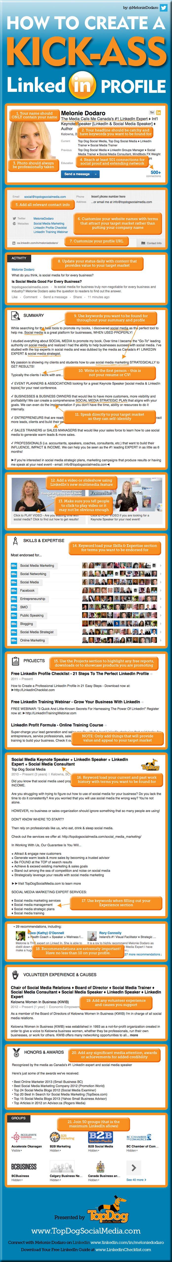 resume Linkedin Generate Resume 21 linkedin profile tips that make you look awesome how to create a kick ass linkedin