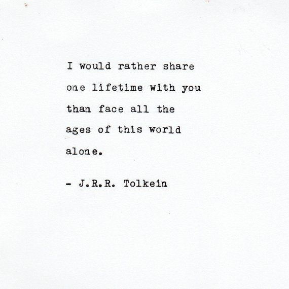 J.R.R. Tolkien Love Quote Made On Typewriter,Typewriter Quote, Famous Quotes