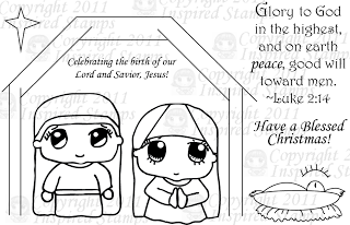 inspired stamps...the blog: Sneak Peek #4: Nativity Set (Enter the Giveaway!)