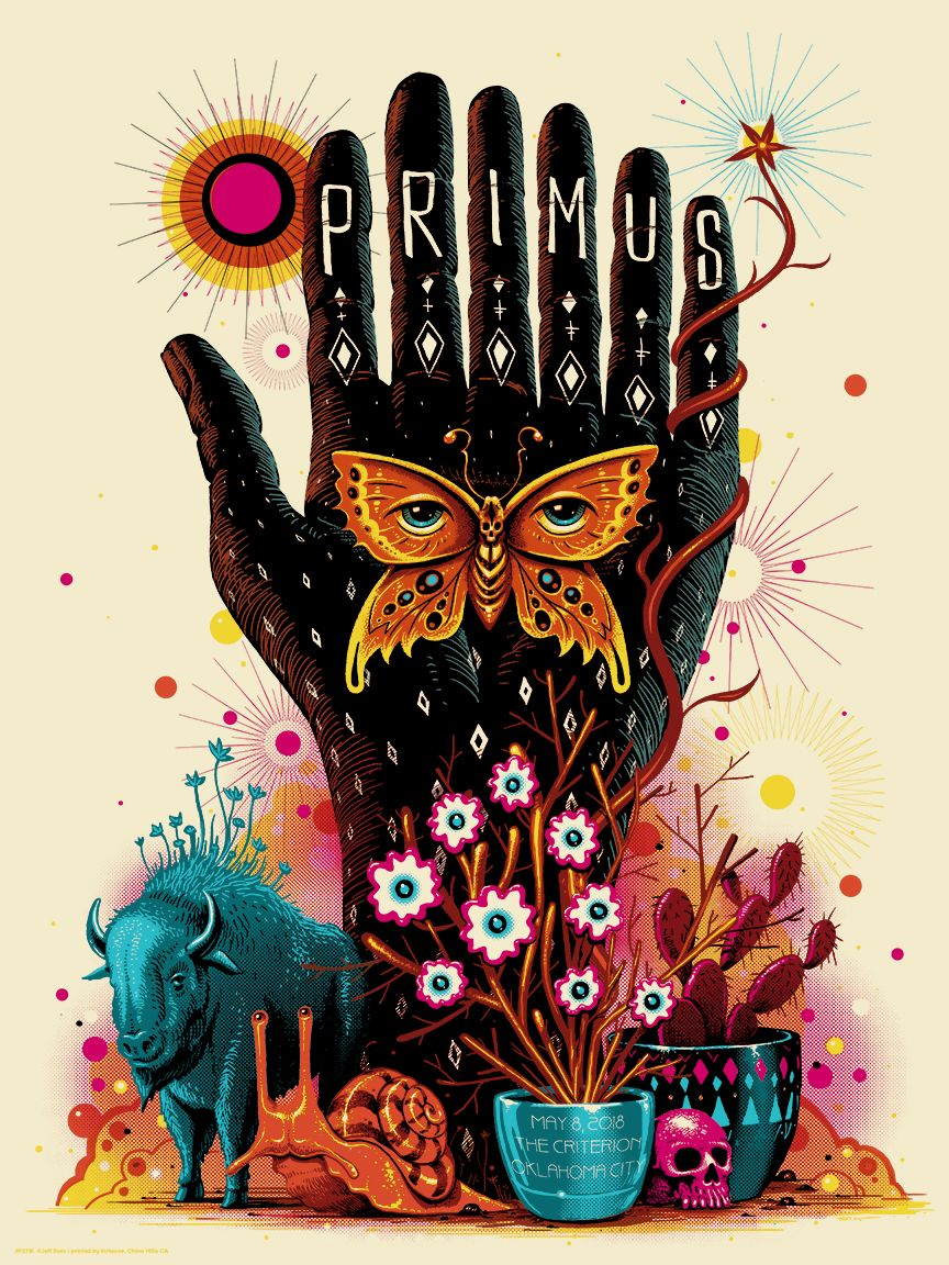Primus Oklahoma City Poster by Jeff Soto | Images Of Music | Pinterest