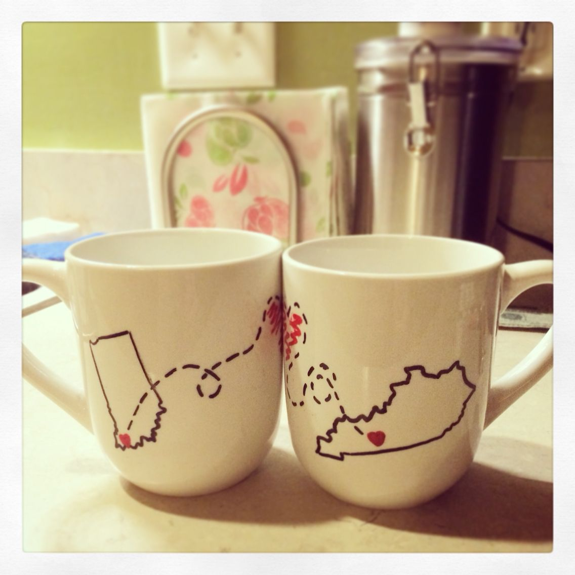 Miss you mugs wheart for my sweets firebeardcrafts