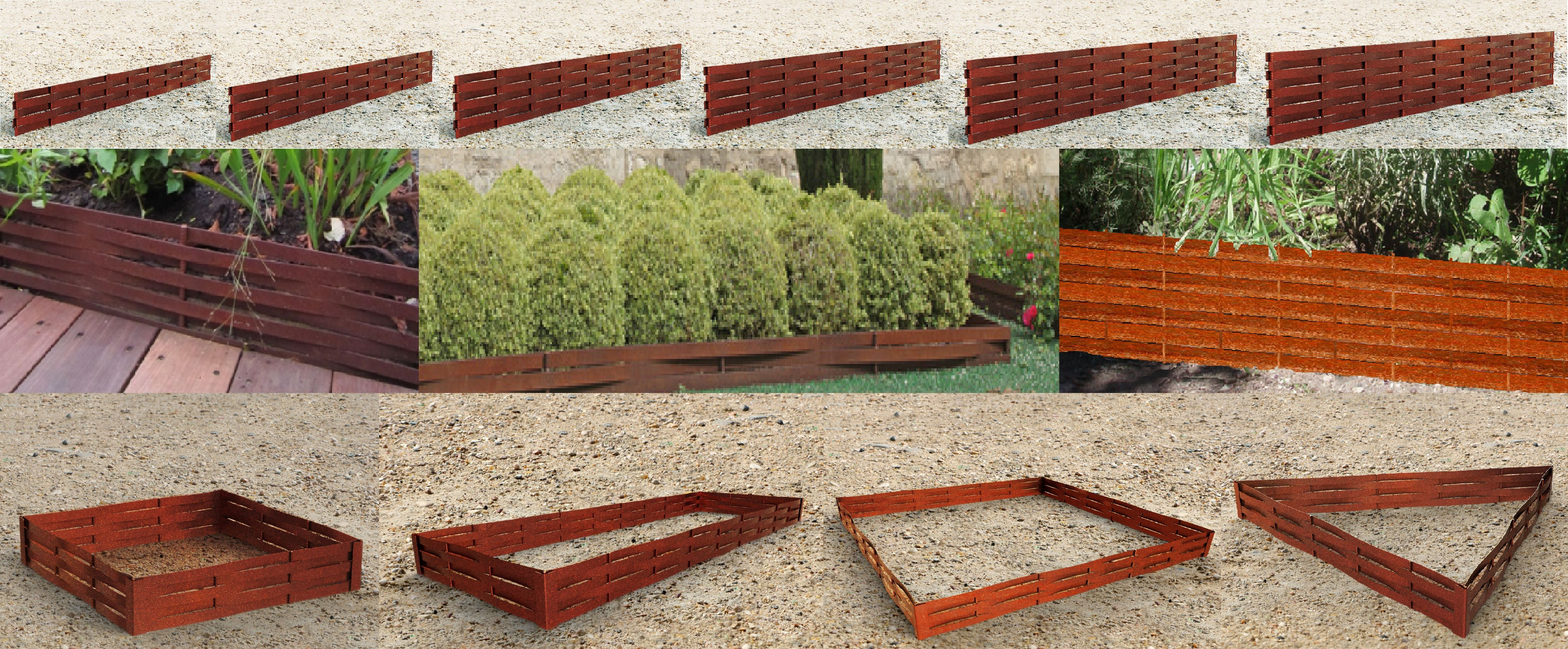 bordure jardin bordure de jardin en fer forg with bordure jardin gallery of clou duancrage. Black Bedroom Furniture Sets. Home Design Ideas