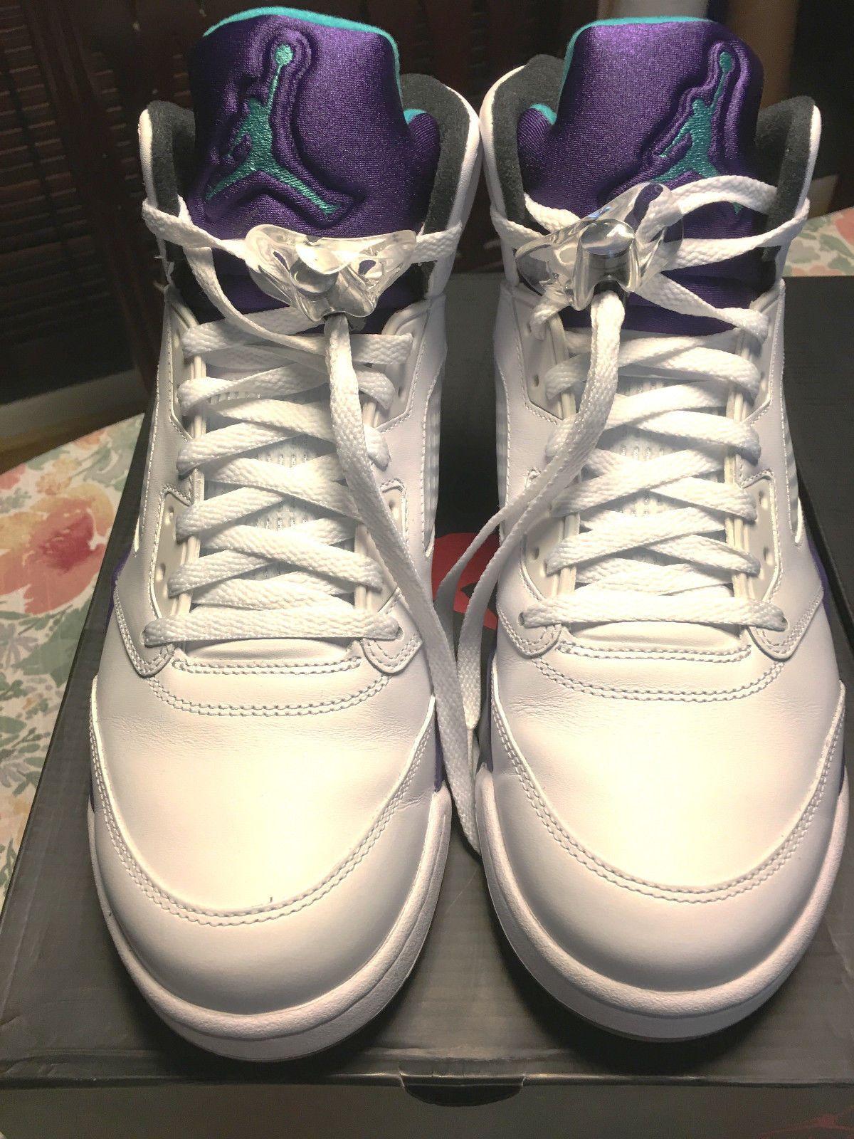 68c4d5ad601d Details about Nike Air Jordan Retro 5 Grapes Fresh Prince size 11 ...