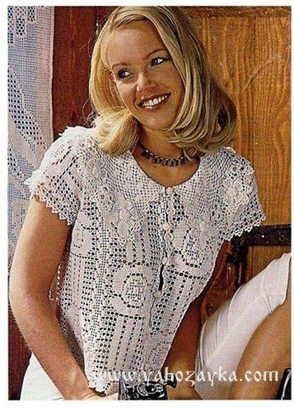 блузка в филейной технике схемы филейное вязание крючком схемы