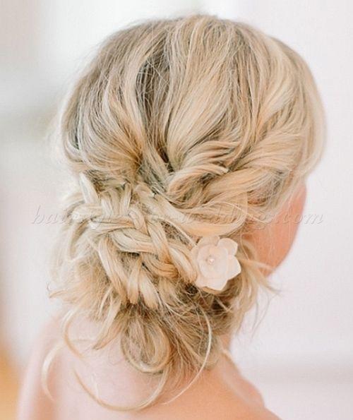 chignon wedding hairstyles, low bun wedding hairstyles - low side ...