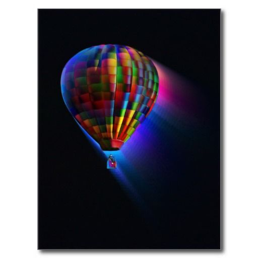 Hot Air Balloon Magical Flight Post Card Digital Art