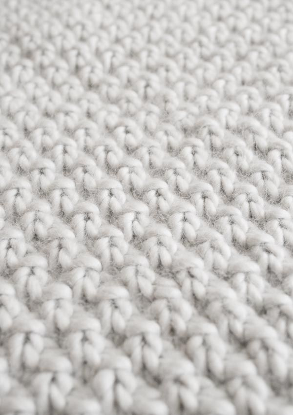 Double Seed Stitch Blanket | Knitting | Pinterest | Cobija, Dos ...