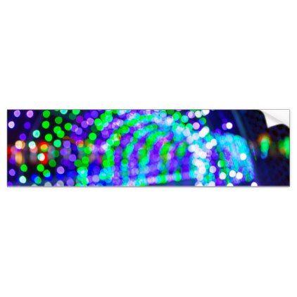 Christmas Lights Decoration Blurred Defocused Boke Bumper Sticker Christmas Craft Supplies Cyo Merry Xmas Santa Claus Family Holidays