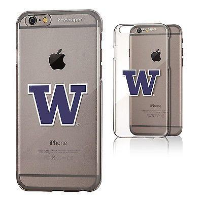 b8e60933212a1c Washington Huskies iPhone 6 Clear Slim Case NCAA