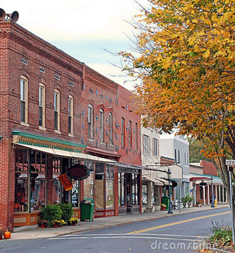 Vintage Small Town America Small Town Main Street 1 Stock Images
