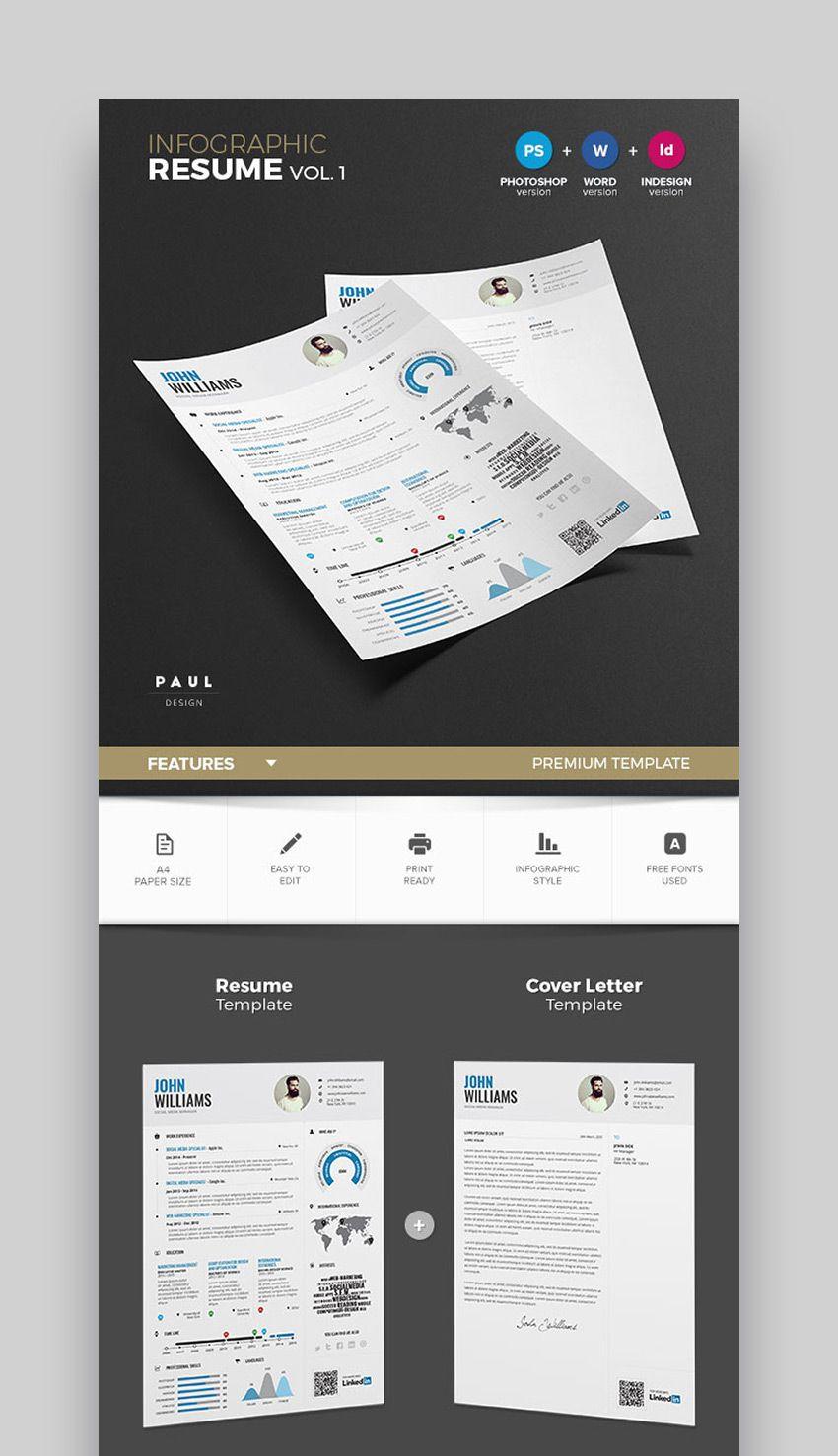 Infographic Resume Vol 1 Infographic Resume Infographic Resume Template Infographic