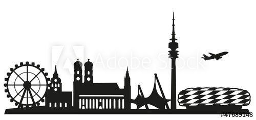 München, Skyline   Skyline münchen, Skyline malerei und ...