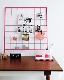 DIY : Une grille pêle-mêle pour votre bureauVous avez des cartes...