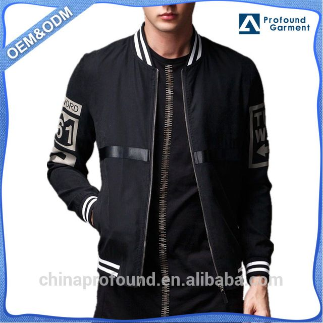 a6284f5f0 Source Spring Autumn Mens Bomber Jacket Cutom Jackets Made In China ...