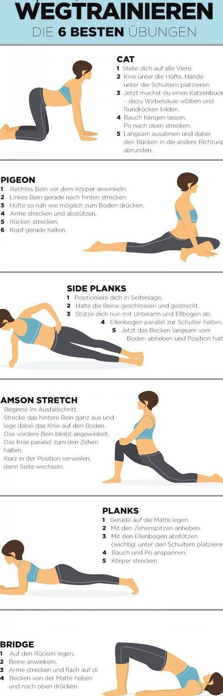 6   bungen  mit denen du ein Hohlkreuz wegtrainieren kannst  hohlkreuz  training  fitness  workout...