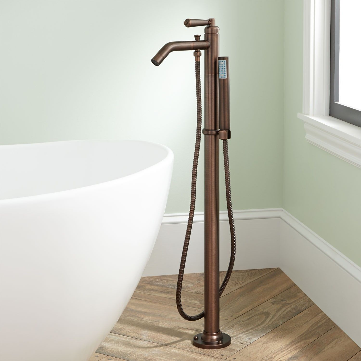Napier Freestanding Tub Faucet and Hand Shower | Freestanding tub ...