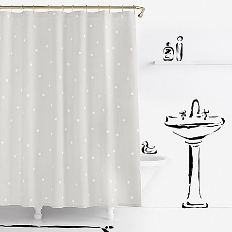 Constructed From Cotton This Polka Dotted Shower Curtain Brings A Chic Yet Casual