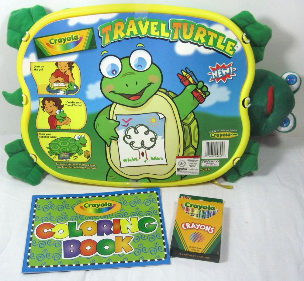 Crayola Travel Turtle Crayons Coloring Book Create Cuddle Store Lap ...
