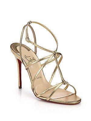 the best attitude 97692 3fa99 Christian Louboutin Youpiyou Metallic Leather Sandals ...
