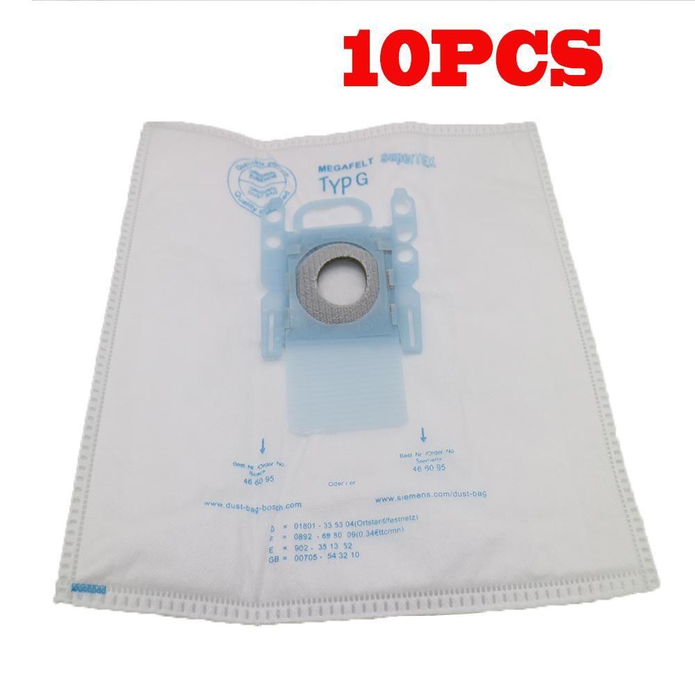 10 Pcs Vacuum Cleaner Dust Bag Replacement For Bosch Microfibre Type G Gxxl Gxl Megaair Supertex Bbz41fgxxl Nonoriginal Vacuum Cleaner Microfibre Bosch