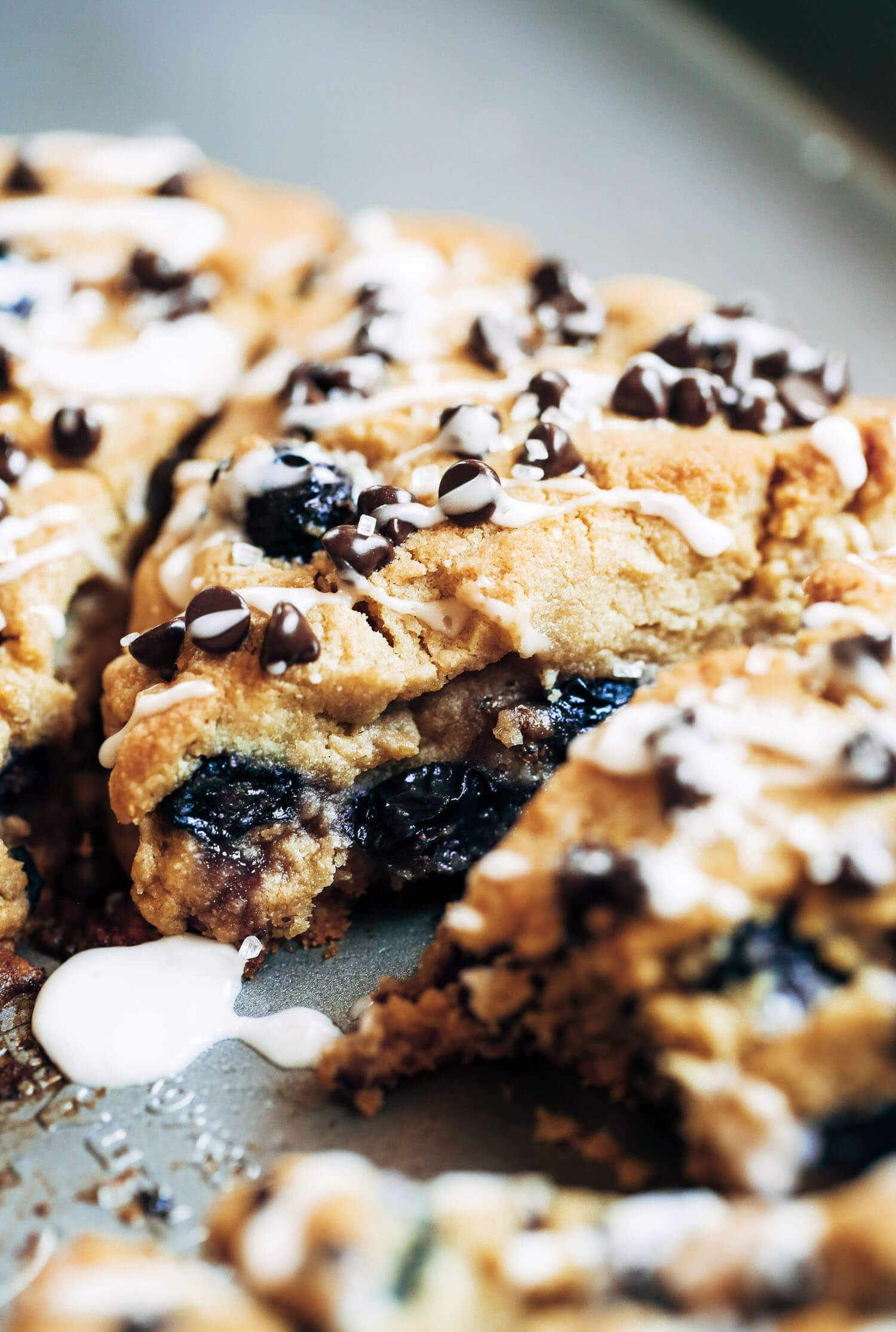 Blueberry chocolate paleo breakfast scones recipe