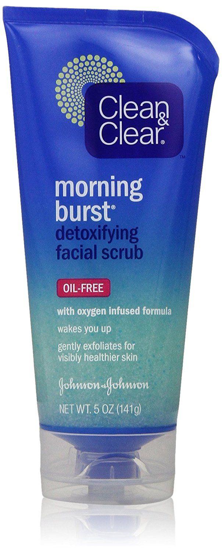 6 Pack - CLEAN & CLEAR Morning Burst Detoxifying Facial Scrub Oil-Free 5 oz SuperLan Kosher Natures Natural Moisturizer Skin Cream Lite - 4 OZ