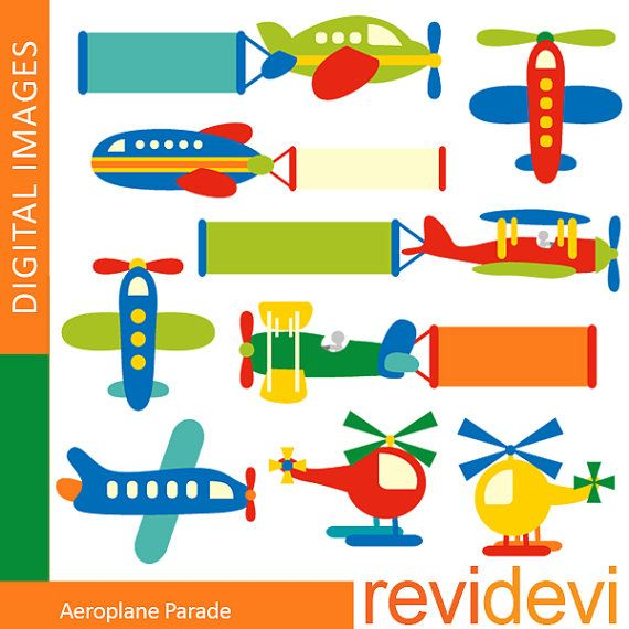 Cute imágenes de avión desfile 07352 - uso comercial prediseñadas para las tarjetas impresas, scrapbooking, artículos de papel-