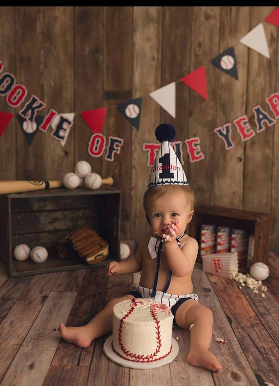 Boy Baseball Cake Smash Outfit Birthday Vintage