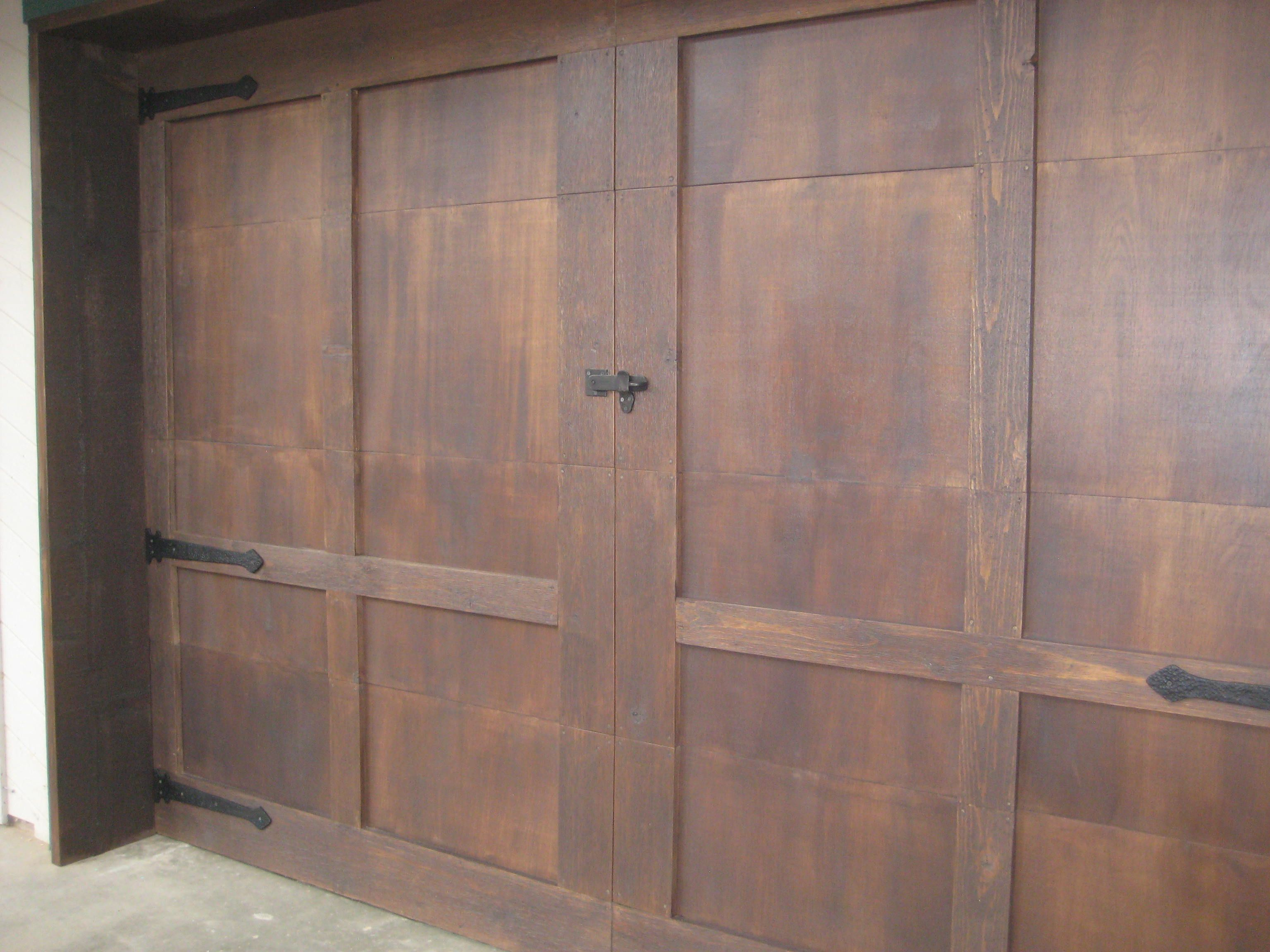 We Refaced Our Garage Doors Love Them It Took Us 2 Weekends But Well Worth The Effort Updating House Garage Door Makeover Garage Doors