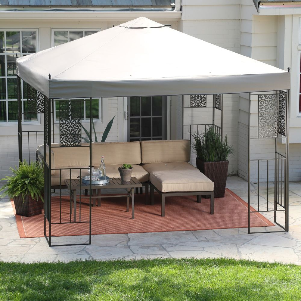 10 x 10 ft Metal Gazebo And Canopies Pergolas Backyard Garden Patio ...
