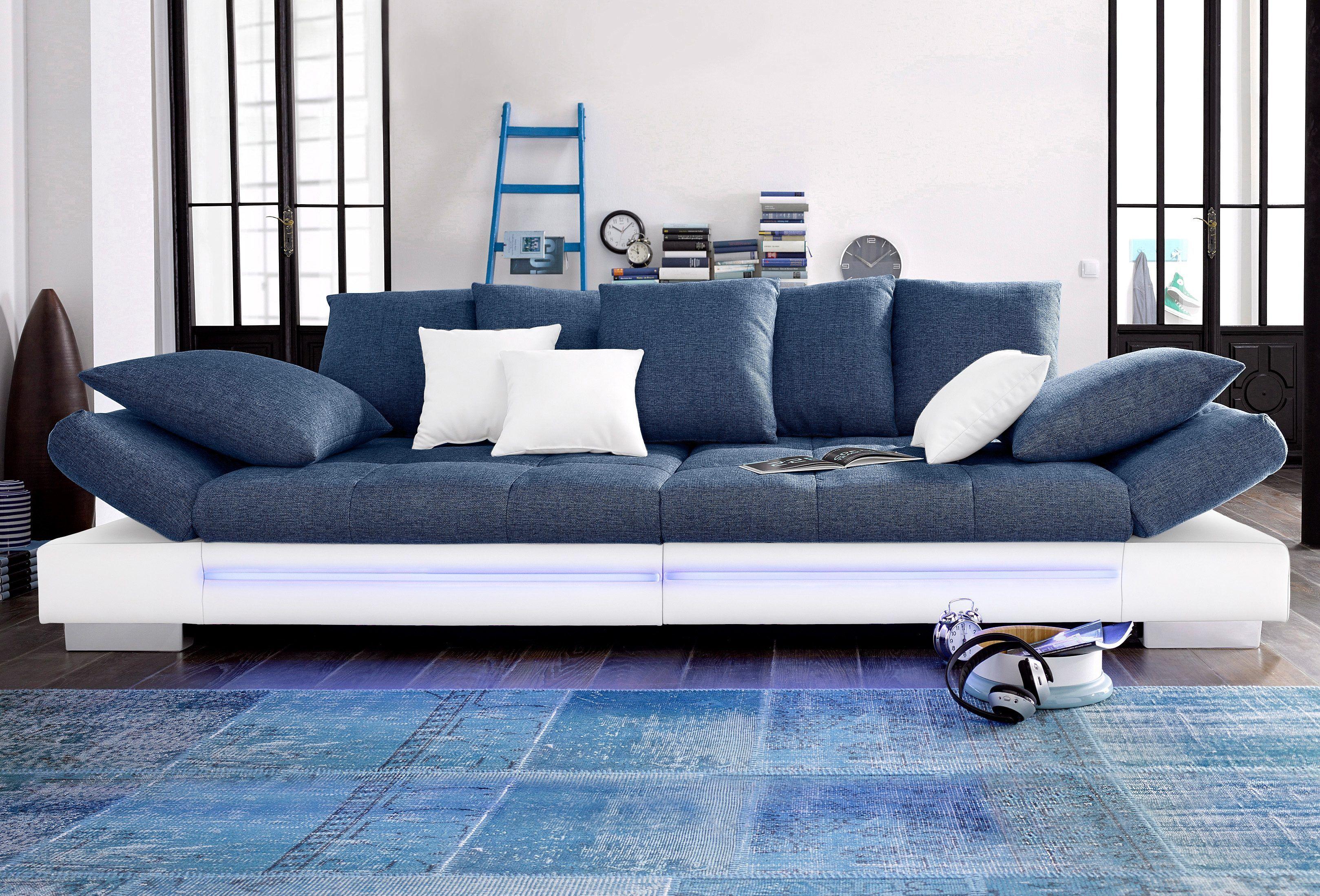 Big Sofa Weiss Mit Rgb Led Beleuchtung Energieeffizienzklasse A