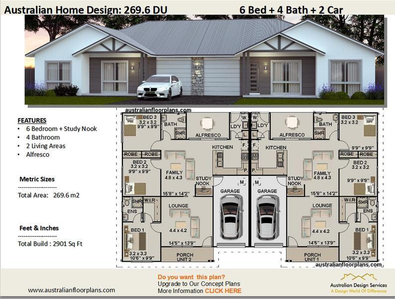 Best Selling Duplex Home Designs Architectural Home Designs Etsy In 2020 Duplex Design Duplex House Plans Duplex Floor Plans