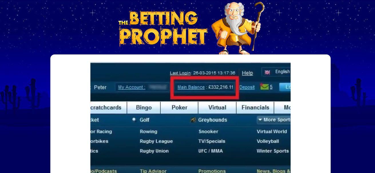 The prophet betting tips emilijana 1x2 betting