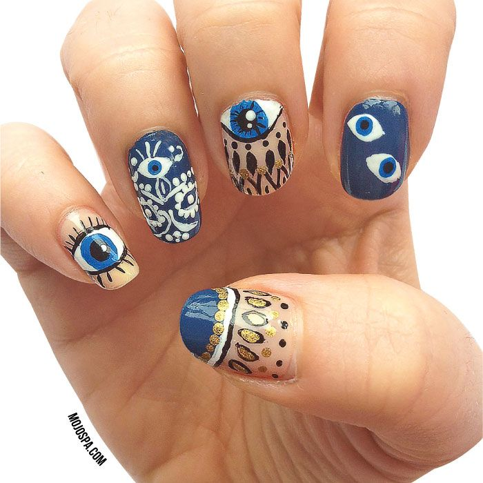 To ward off evil eye, from Mojo Spa™ | Blog. | nails | Pinterest ...