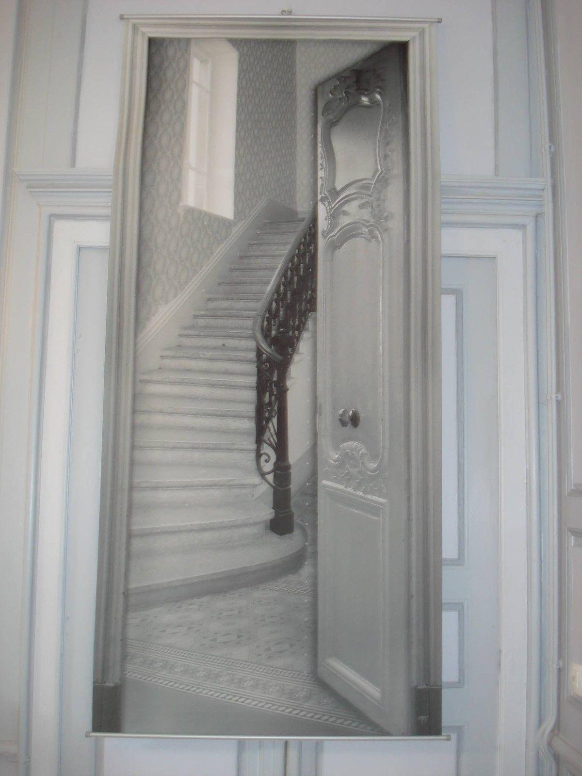Toile Dcorative Trompe Loeil Lescalier Dco Mathilde M Dream Living Murales Fabric
