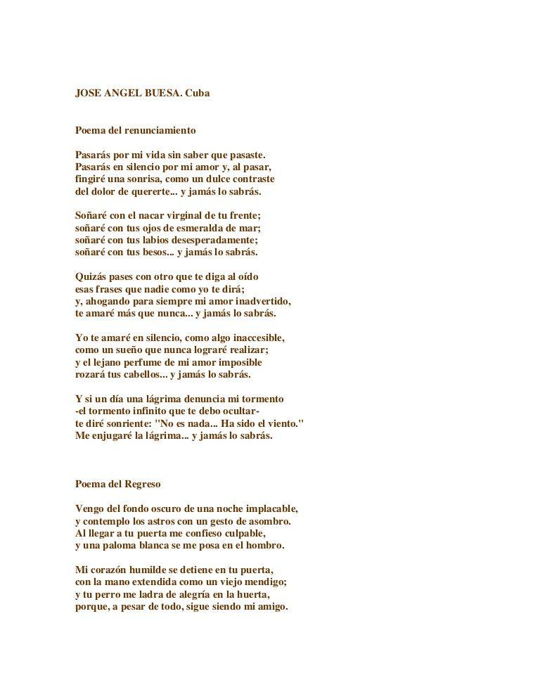 poemas. Jose Angel Buesa \