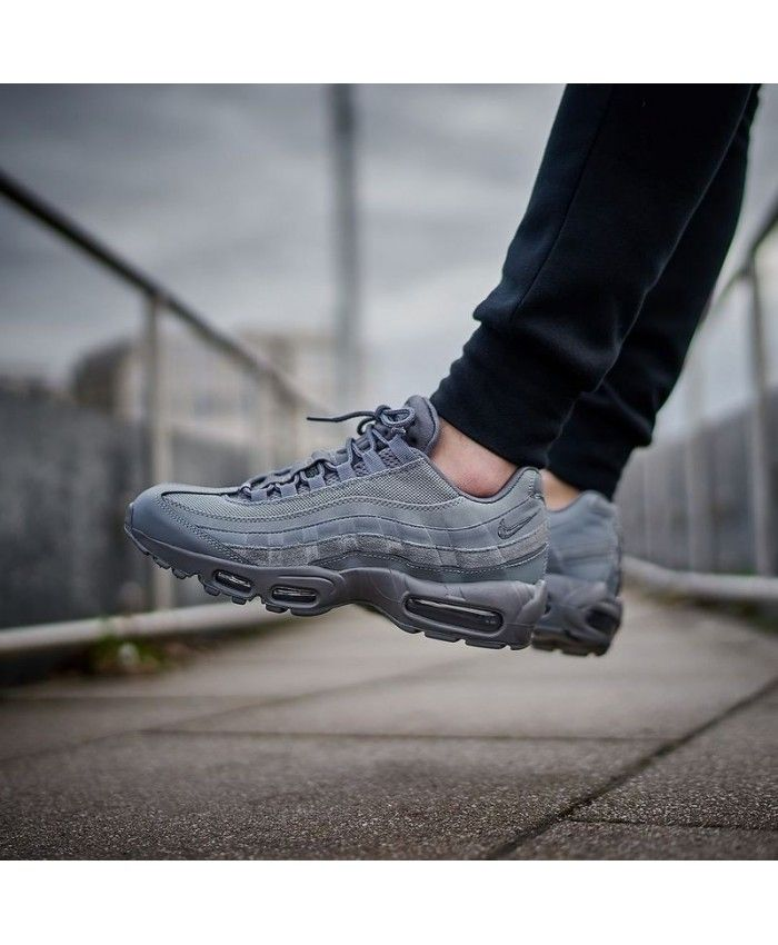 8bee53175aa Nike Air Max 95 Essential Cool Grey Trainers