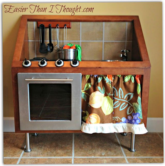 Children's Play kitchen from two cabinets
