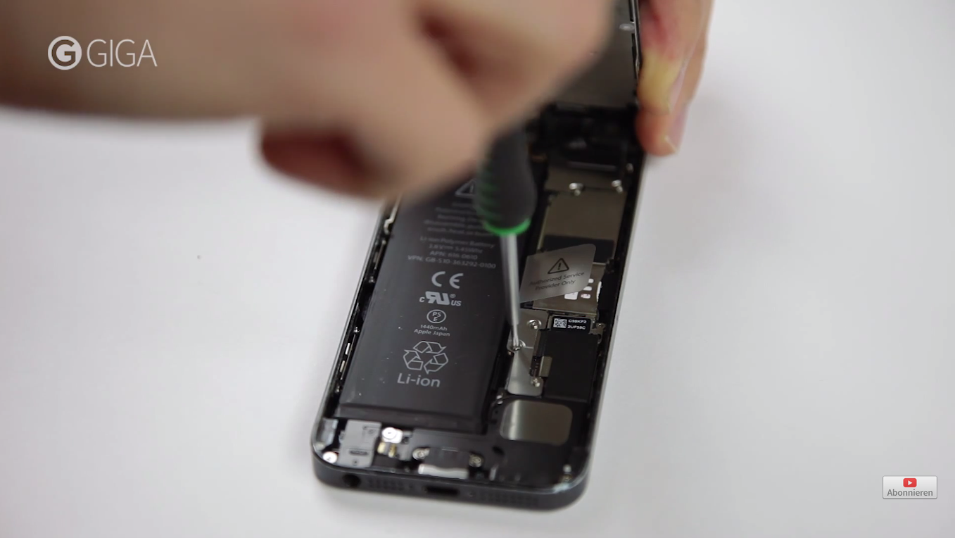 bf993c269208ae How to replace the battery in your iPhone with the DIY Kits by Fixxoo,  Step-by-Step guide. 8. Detach battery connector