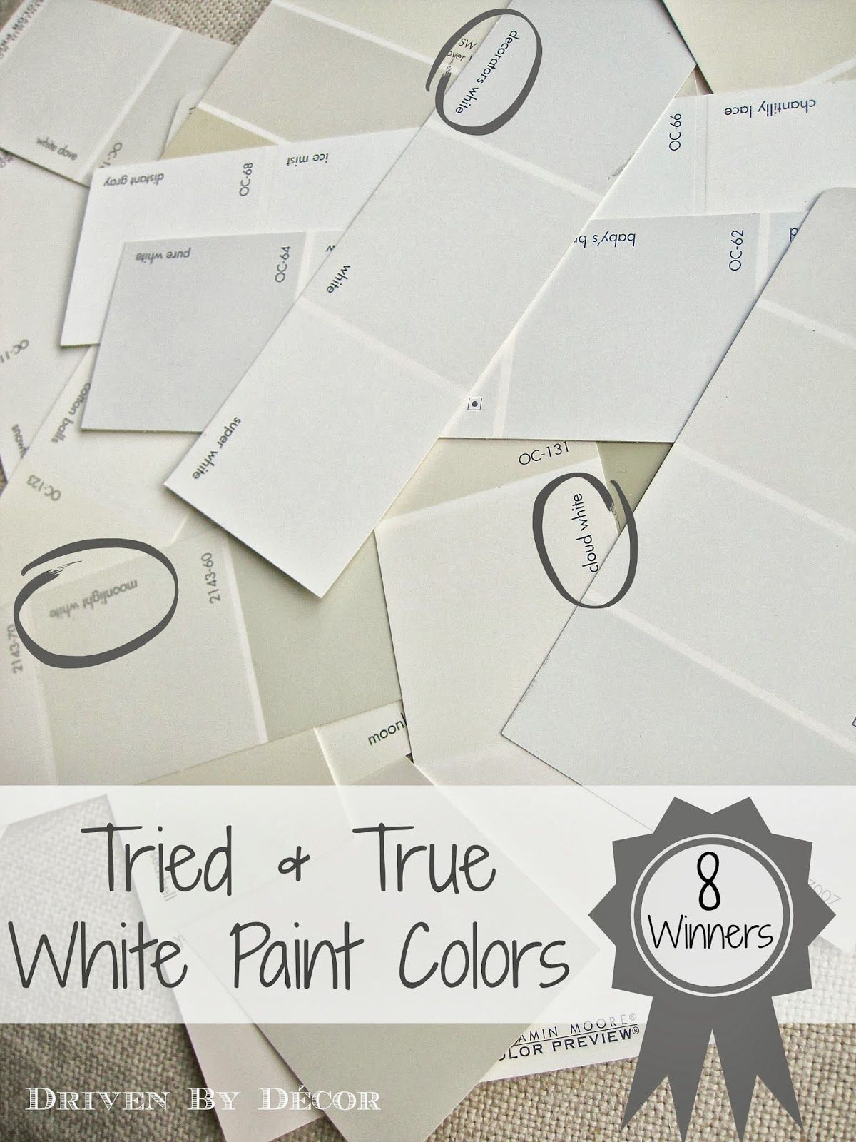 Picking A White Paint Color 8 Proven Winners Driven By Décor Sherwin Williams Alabaster Sw7008 Which Is Very Similar To Bm S Dove