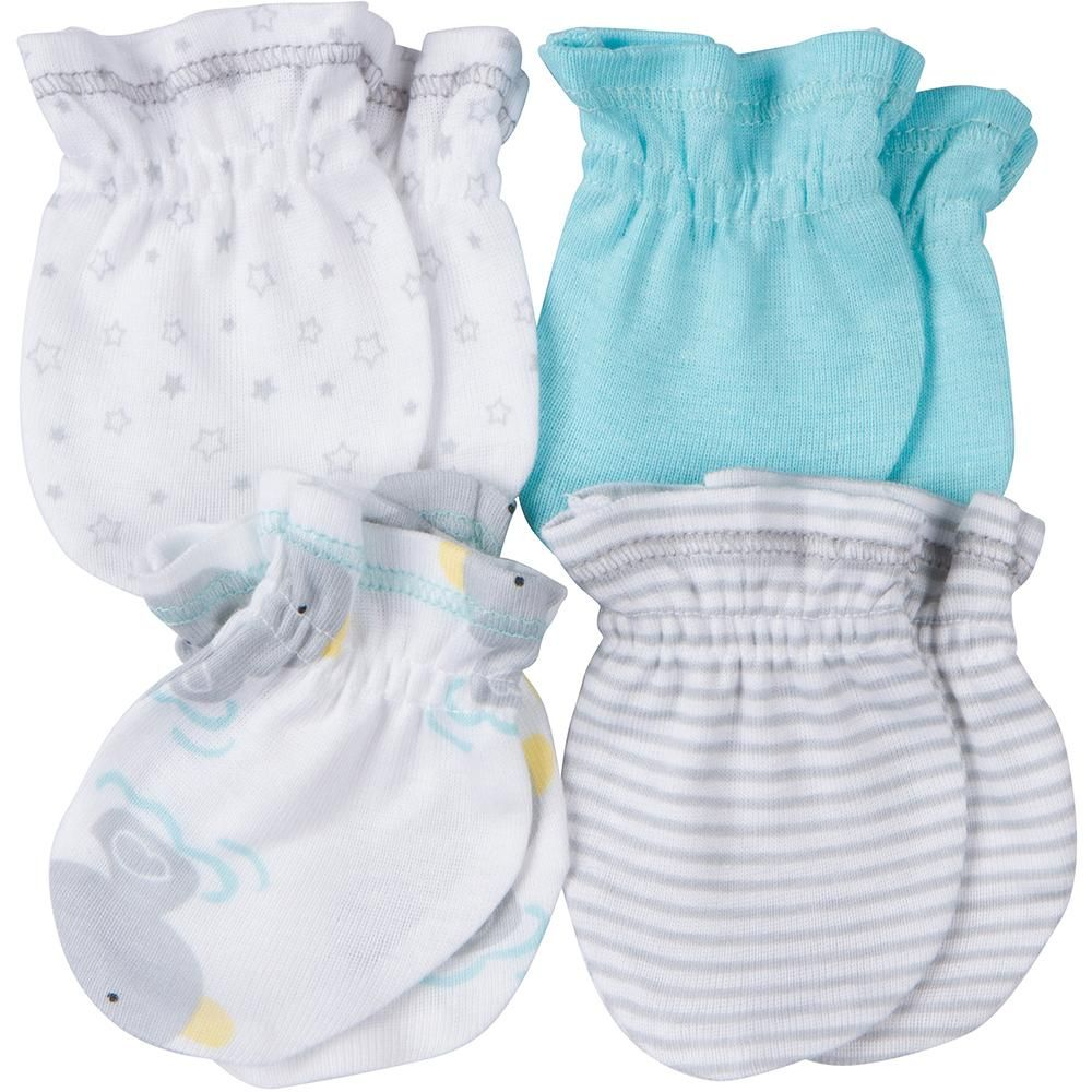 THREE 2 Pack Scratch Mitten Sets by Snugly Baby Yellow//Blue//Pink