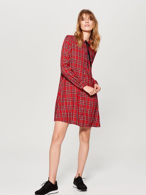 0f4d0416ced1 Košeľové šaty - červená - TZ827-33X - Mohito - 1