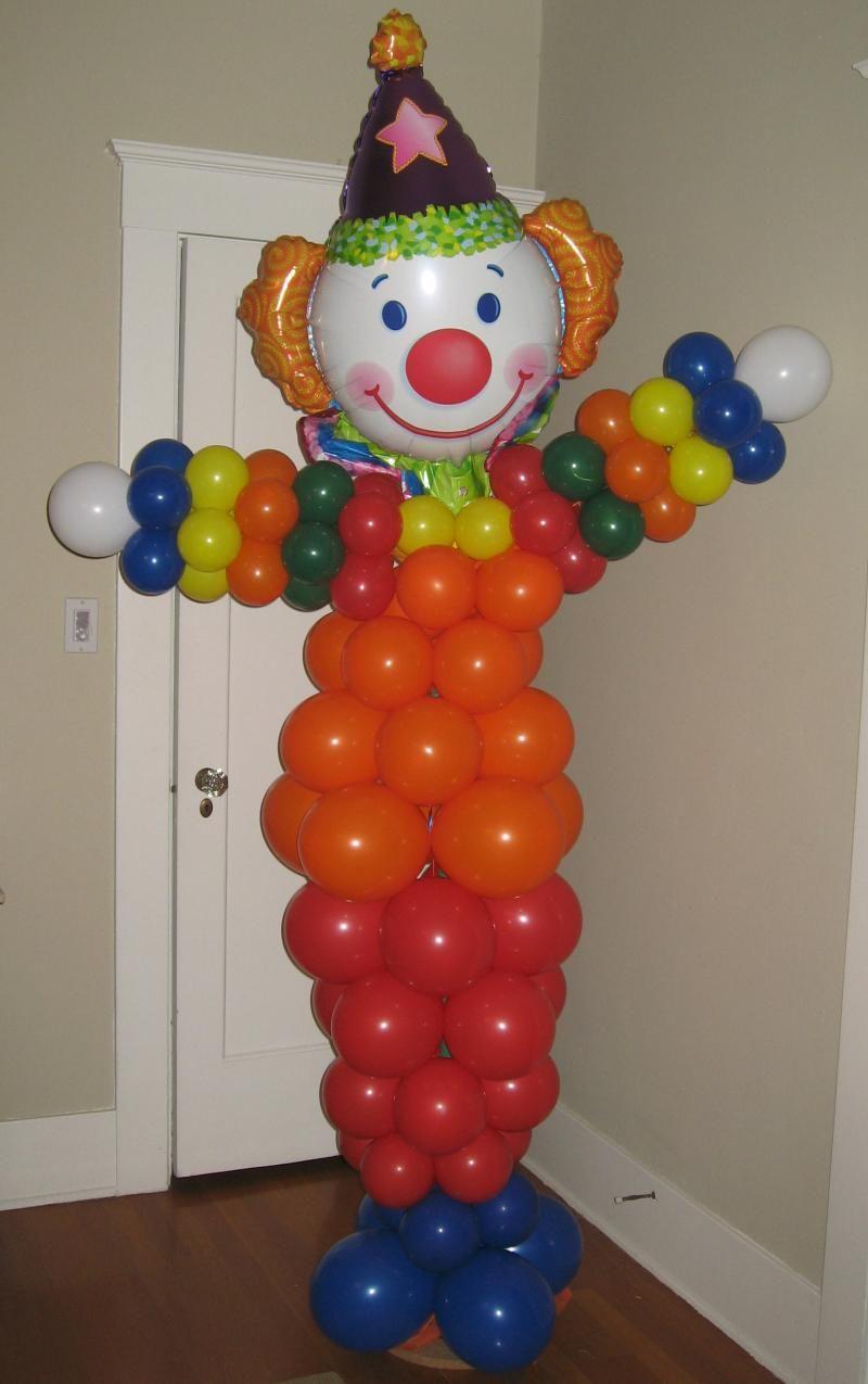 Balloon sculptures balloon decor of central california for Clown dekoration