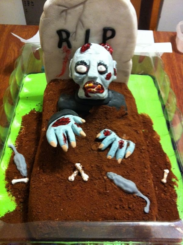 Terrific 50 Best Zombie Birthday Cakes Ideas And Designs 2019 Cakes Personalised Birthday Cards Veneteletsinfo