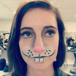 3252734b3fe Bunny Rabbit makeup production trial | Make up | Bunny halloween ...